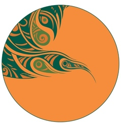 abstraction in a circle vector image