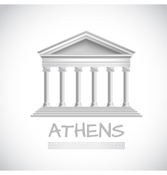 Athens temple emblem vector image vector image