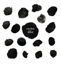 Big Black Blob Collection vector image vector image