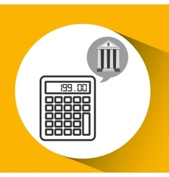 Building bank economy calculator money vector