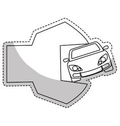Car repair workshop emblem icon image vector