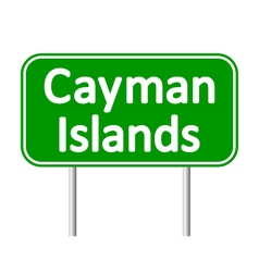 Cayman islands road sign vector