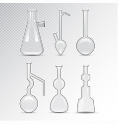 chemical laboratory 3d lab flask glassware tube vector image vector image