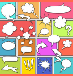 comic strip background vector image vector image