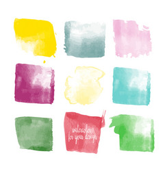 different colors watercolor paint stains vector image