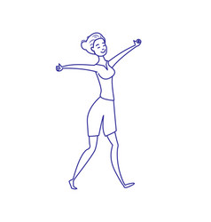 good morning the girl stretches after a sleep vector image vector image