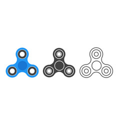 hand spinners emblem set on white background logo vector image