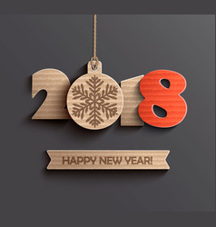 modern happy new year 2018 design vector image