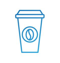 portable coffee cup paper bean cap fresh vector image