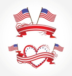 Ribbons for july 4th vector