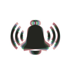 Ringing bell icon colorful icon shaked vector
