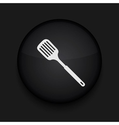 Slotted kitchen spoon icon eps10 easy to edit vector