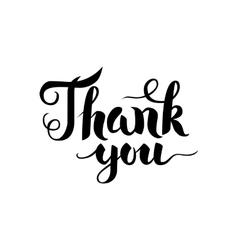 Thank You Handwritten Calligraphy vector image vector image