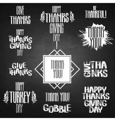 thanksgiving inscription vector image