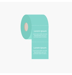 Toilet paper roll icon with dash line flat design vector
