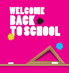 Welcome Back to School with Ruler and Stains vector image