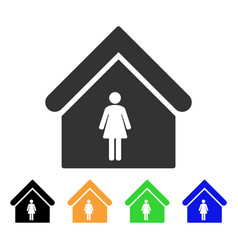 Woman toilet icon vector