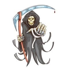 Death reaper with scythe halloween symbol vector