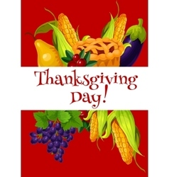 Thanksgiving day meal abundance greeting banner vector