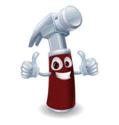 hammer cartoon character vector image