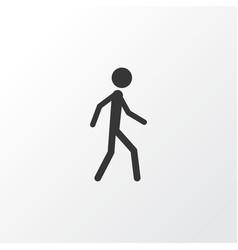 walking icon symbol premium quality isolated vector image