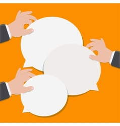 modern flat bubble speech vector image