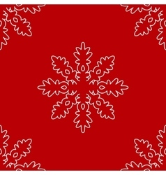 Christmas seamless pattern from white snowflakes vector