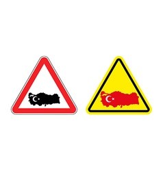 Attention turkey warning sign for turkish country vector