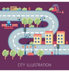 City street schema abstract flat banner vector