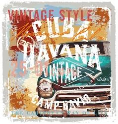 Vintage cuba style vector image