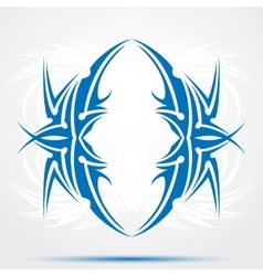 Blue celtic tattoo tribal for tattoo saloons vector