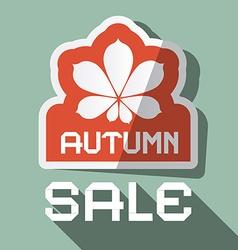 Autumn Sale Flat Design with Chestnut Leaf vector image vector image
