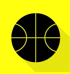 Basketball ball sign black icon with vector