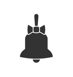 Bell with bow icon vector