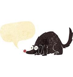 Cartoon happy dog with speech bubble vector