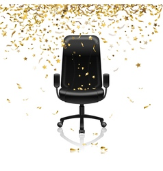 Chair with confetti vector