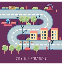 City street schema abstract flat banner vector