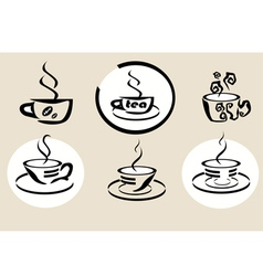 coffe tea menu vector image
