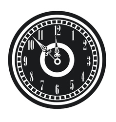 dark vintage clock timer midnight new year vector image