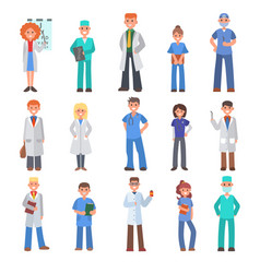 Different doctors people doctoral vector