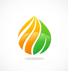 eco swirl water drop symbol logo vector image