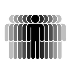 Eleven human sign people symbol vector