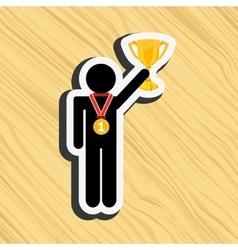 gold award design vector image vector image