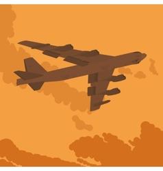Heavy bomber in the sky vector