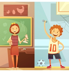 Kids Education 2 Vertical Cartoon Banners vector image vector image