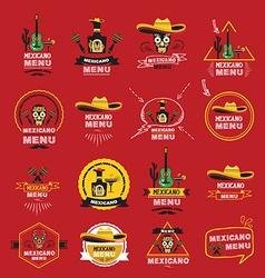 Menu mexican design vector image vector image