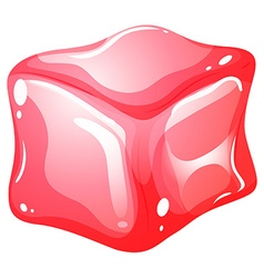 Red cube on white vector image