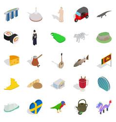 sight icons set isometric style vector image