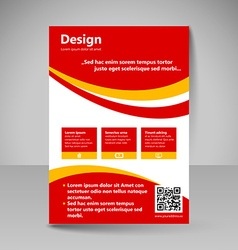 Site layout for design vector