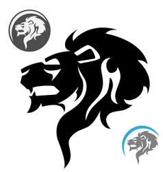 Stylized lion head vector